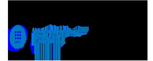 Upc. Universitat Politècnica De Catalunya Barcelonatech. 50 anys sense limits Logo.